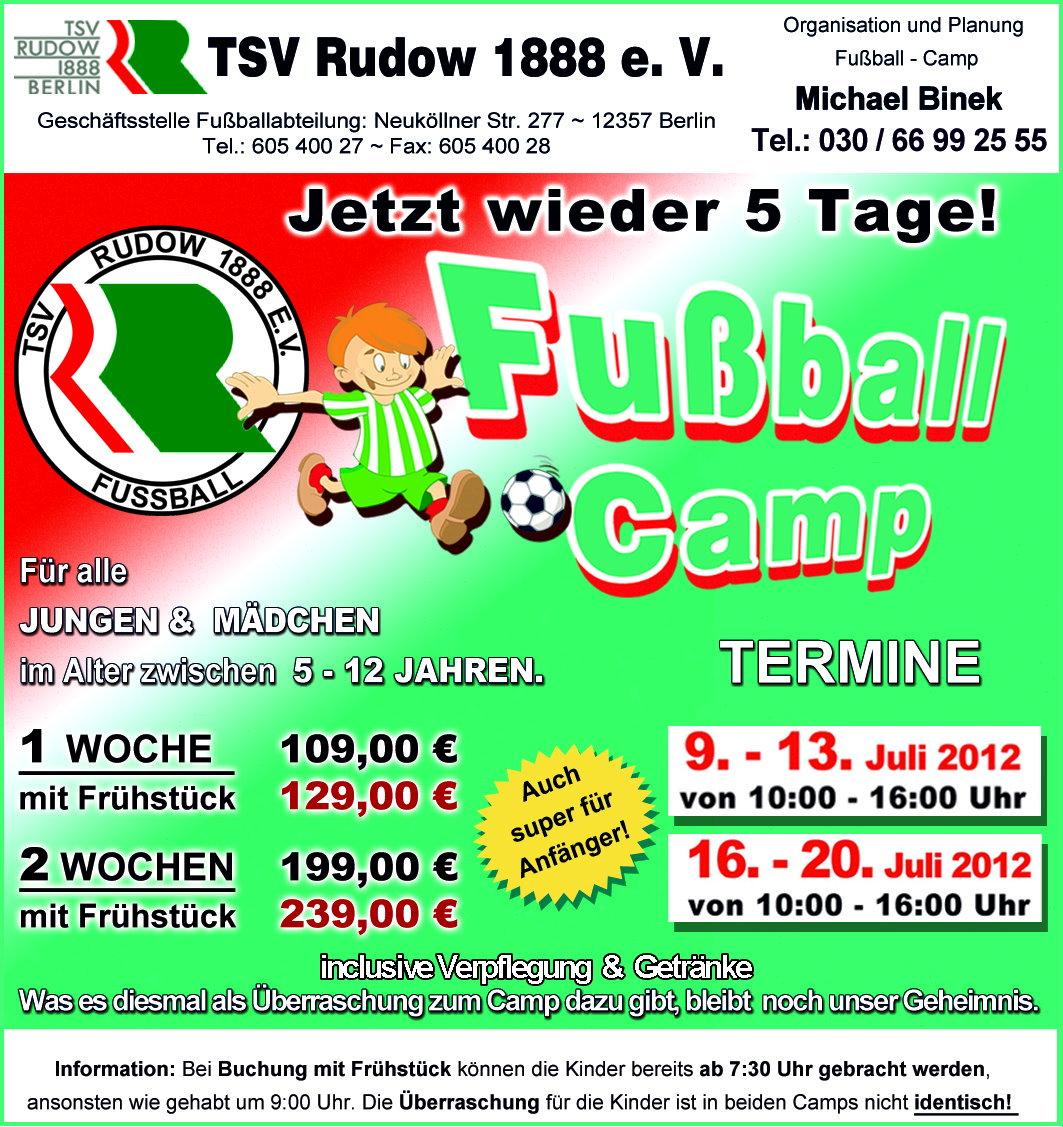 Fußball-Ferien-Camp TSV RUDOW